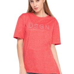 d&f Kaos pria DESIGN - Print embos Red