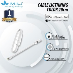 MiLi Innovative Wristband 8pin Ligthning Cable 20cm