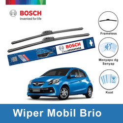 Bosch Sepasang Wiper Mobil Honda Brio Satya Frameless Advantag 22 & 16