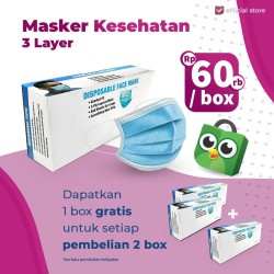 Buy 2 Disposable 3 Layer Face Mask Type GET 3 BOX