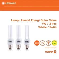 Osram Lampu Hemat Energi Dulux Value 7 Watt 3 Pcs - Putih