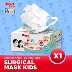 Bagus PiPi Kids Surgical Mask 30 pcs - Masker Medis Anak 3 Ply