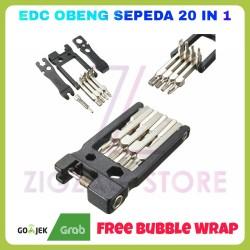 EDC Obeng Multifungsi 21 in 1 / Obeng Sepeda / Obeng Reparasi