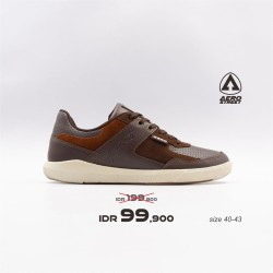 Aerostreet 40-43 Oscar Coklat Tua - Sepatu Sneakers Casual Aero Street