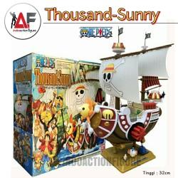Action figure One Piece kapal Thousand Sunny go 25cm kws mugiwara crew