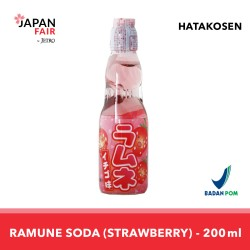 Soft Drink Hata Ramune Strawberry 200 ml Minuman Jepang