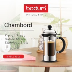 Coffee Maker Bodum Chambord French Press 3 Cup 350ml Stainless Steel