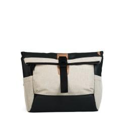 DAAVUU Bushido Messenger Bag Unisex - Cream/Black