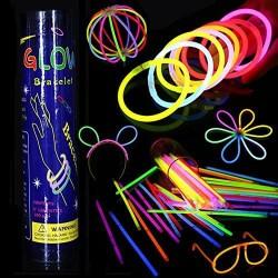 Glowing Stick Light Stik Glow Gelang Fosfor Konser Party 1 box isi 100