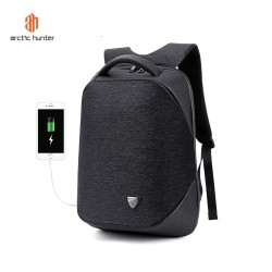 "ARCTIC HUNTER B00193 Backpack Bag USB 15.6"" - Tas Ransel Laptop BLACK"