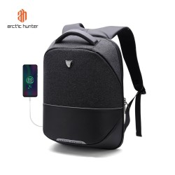 "ARCTIC HUNTER B00216 Backpack Bag USB 15.6"" - Tas Ransel Laptop BLACK"