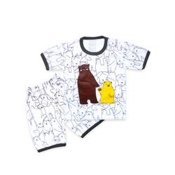 Skabe Baju Anak Laki Laki Lengan Pendek Bear Usia 6 - 12 Bulan 3218