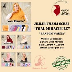 Jilbab Segiempat POLOS VOAL MIRACLE LC ORIGINAL by Umama RANDOM Warna