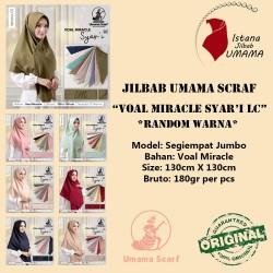 Jilbab Umama VOAL MIRACLE SYARI LC bisa ecer dan grosir RANDOM WARNA
