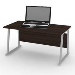INTERIO - Meja Komputer Computer Desk Silver Walnut LDC6239