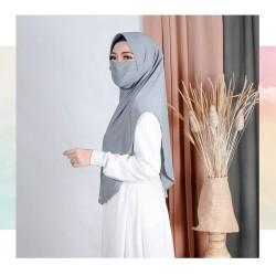 Hijab Cadar Masker 2in1 With Pad Jersey Super Premium
