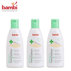 Bambi 3 Mom's Antibacterial Hand Sanitizer Free Baby Powder 50g