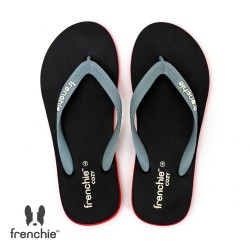 Frenchie Sandal Jepit Pria Cozy Grey / Black / Red SCM17