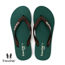 Frenchie Sandal Jepit Pria Cozy Brown / Green / Grey SCM18