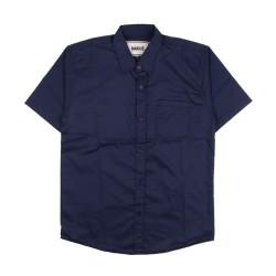kemeja pendek - blue navy