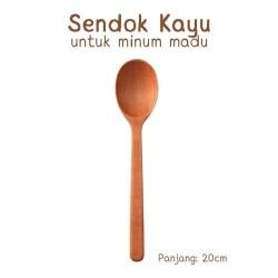 Sendok Kayu minum madu kualitas tebal halus besar. Wooden spoon
