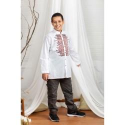 Busana muslim anak - Baju koko NV 11 KIVI ANAK | NIZAR BORDIR