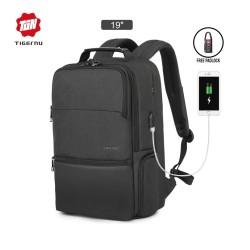 "TIGERNU T-B3905 Backpack Bag USB - Tas Ransel Laptop 19"" - DARK GREY"