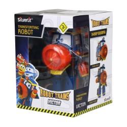 """MAINAN ROBOT TRAINS 80168 4"""" TRANSFORMING ROBOT VICTOR"""