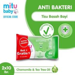 Tisu Basah Mitu Baby Antiseptik 10's B1G1