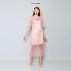 Plopherz JANUARY Pink Dress ( PLUS SIZE )