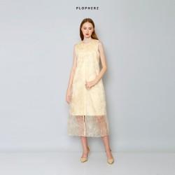 Plopherz APRIL Maxi Dress ( PLUS SIZE ) Pastel Gold