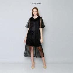 Black Party Dress Plopherz FEBRUARY Midi ( PO 5 DAYS )