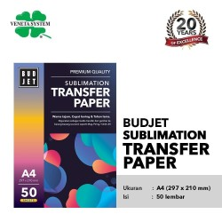 Kertas Sublim Sublime - Budjet Sublimation Transfer Paper A4 isi 50