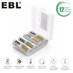EBL Battery AA 2800 mAh 4 Pack High Power Baterai AA Rechargeable