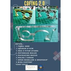 CUSTOM Cofing Corona Finger COVID-19 Korona Perusahaan Logo Merek