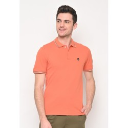 Skelly Polo Shirt Pria Guardian Classic Polo W1 Peach