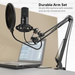 FIFINE 669 Studio Condenser USB Computer Microphone Kit With Adjustabl