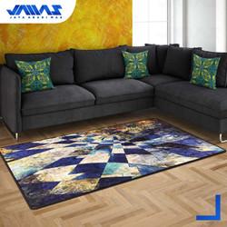 Karpet Velvet Kamaya Abstrak 100 X 140 Alas Anti Slip Efek 3-DIMENSI
