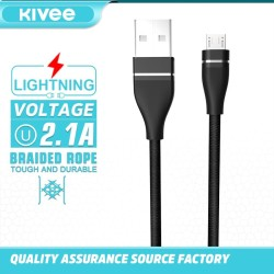 Kivee Kabel Data Android Micro USB Fast Charging 2.1A CH041-1V