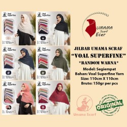 jilbab segiempat Umama Scarf VOAL SUPERFINE 12.500 RANDOM WARNA murah
