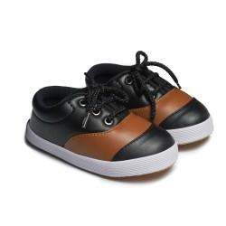 First Light K08 Leather Black sepatu anak balita gratis kaos kaki