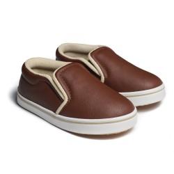 First Light K01 Leather Brown sepatu anak balita gratis kaos kaki