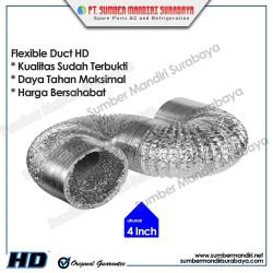 "Alumunium Flexible Duct 4"" | Selang Exhaust 4 inch (10 Meter)"