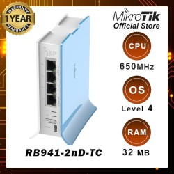 Router Wireless RB941-2nD-TC (hAP-Lite2)