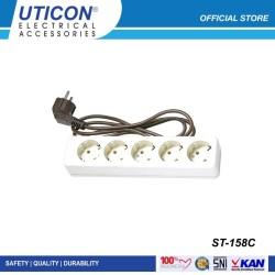 Uticon Stop Kontak + Kabel 1.5 Meter ST-158C