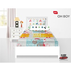 Sprei Single All New My Love Full Fitted 120x200 Oh Boy / Mickey Mouse
