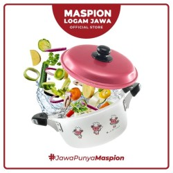 Maspion Panci Potage 20 Cm Sablon Lady Chef Double Handle - Panci Alum