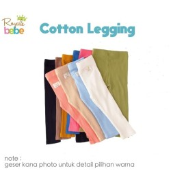 ROYALE BEBE Cotton Legging - Legging Bayi 6-24 Bulan (Plain Series)