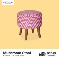 Sofa Kecil Bundar Beragam Motif/ Procella/ Mushroom Stool