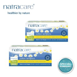 Natracare Cotton Tampon Regular with Applicator 16s (2 pack)